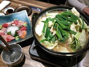 鍋とお刺身